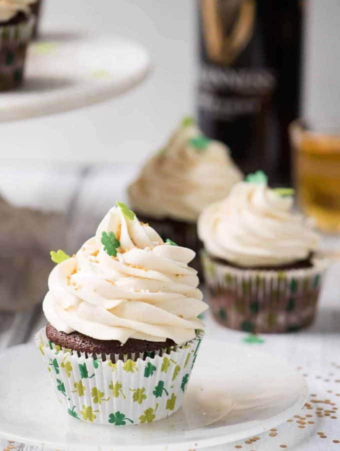 Whiskey Stuffed Car Bomb Cupcakes