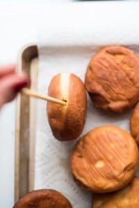 Gender Reveal Doughnuts Pastry Cream Filling
