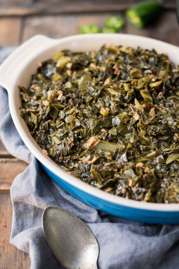 Instant Pot Collard Greens with Jalapeño and Bacon