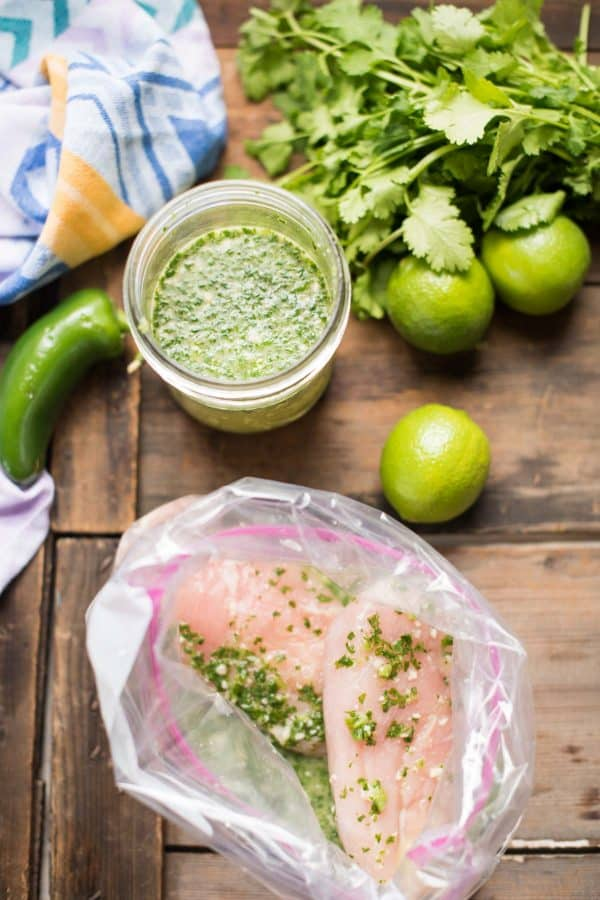 Cilantro Lime Marinade is a simple, blended marinade of fresh herbs, bright acidity, and a touch of sweetness that will tenderize and add bold flavor at the same time.