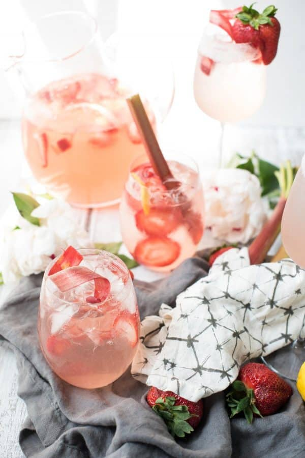 Strawberry Rhubarb Sangria