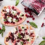Cranberry Basil Flatbreads