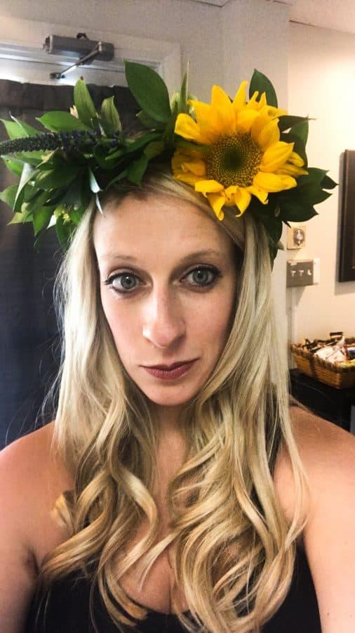 Flower Crown Selfie