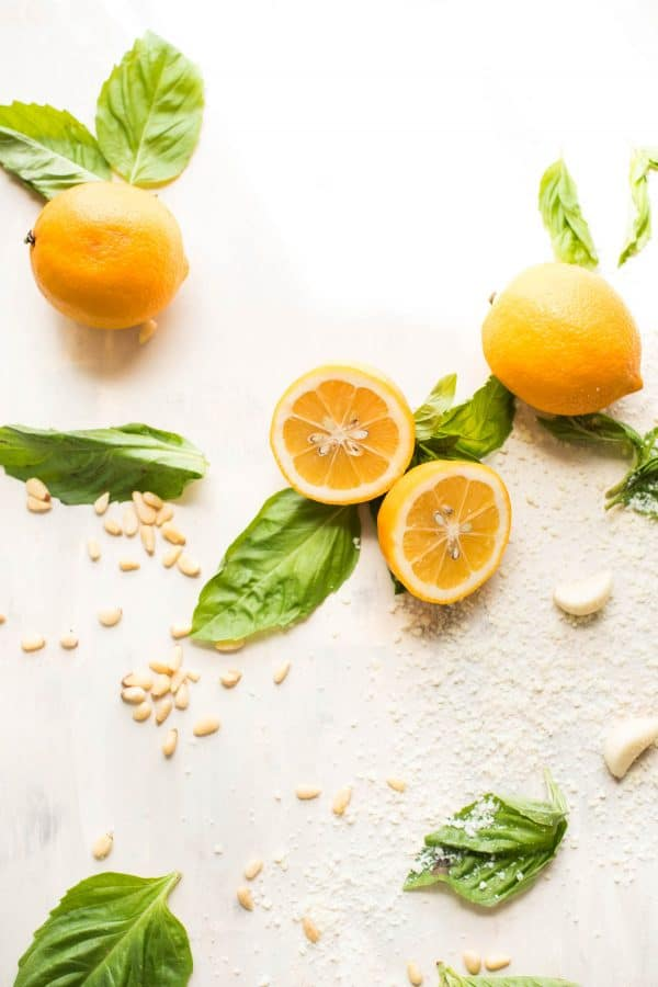 Meyer Lemon Basil Pesto Ingredients