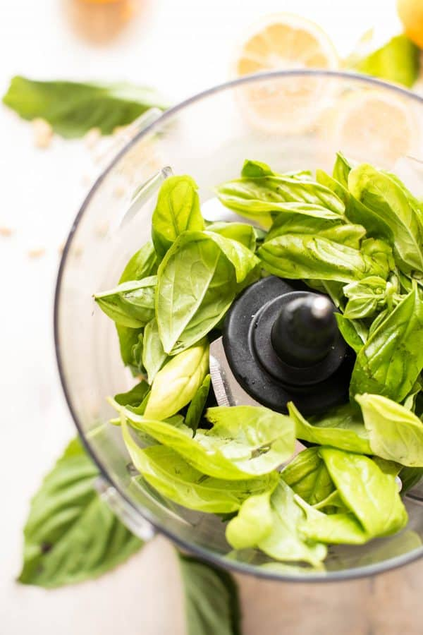 Meyer lemon basil pesto is everything you love about traditional basil pesto with a burst of summery flavors, bright and sweet Meyer lemon, and cheesy Parmesan.