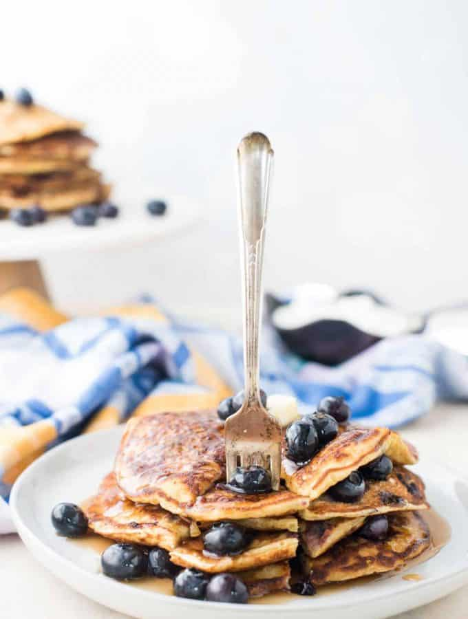 Blueberry Lemon Lactation Pancakes