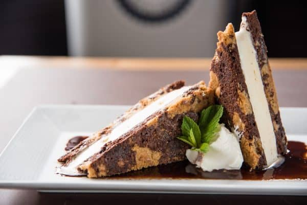 Brookie Ice Cream Sandwich at Bonefish Harrys