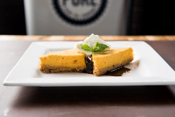Seasonal Pumpkin Pie Cheesecake. (Psssst it's GLUTEN FREE).