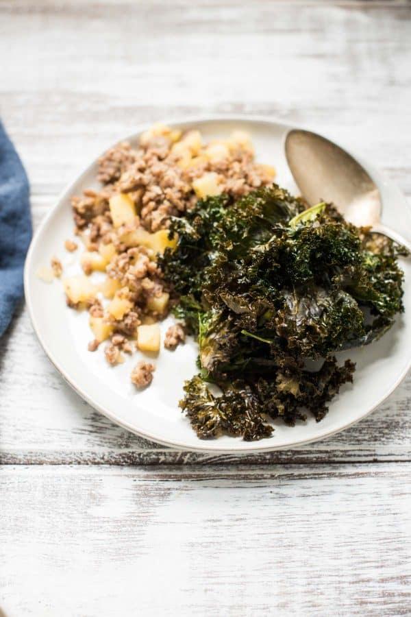 Crispy kale croutons