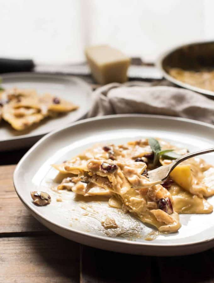 Marsala Cream Sauce with Butternut Ravioli