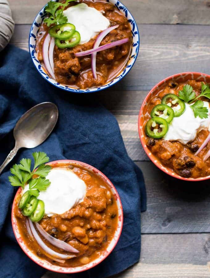 Fall Pumpkin and Beef Chili