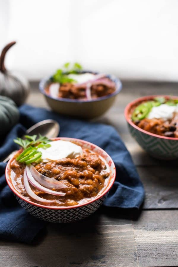 Pumpkin and Beef Chili on a crisp day!