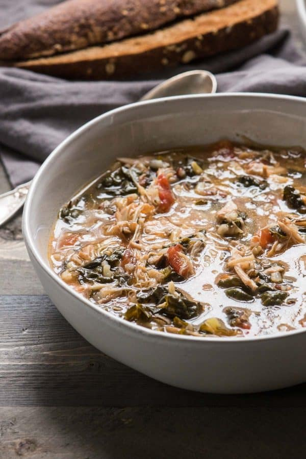 easy instant pot chicken and wild rice soup