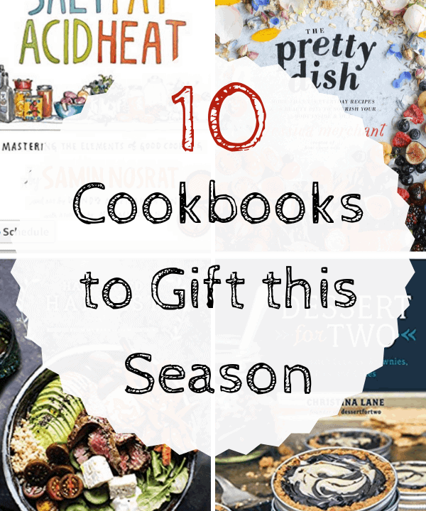 collage of cookbook covers for gift ideas