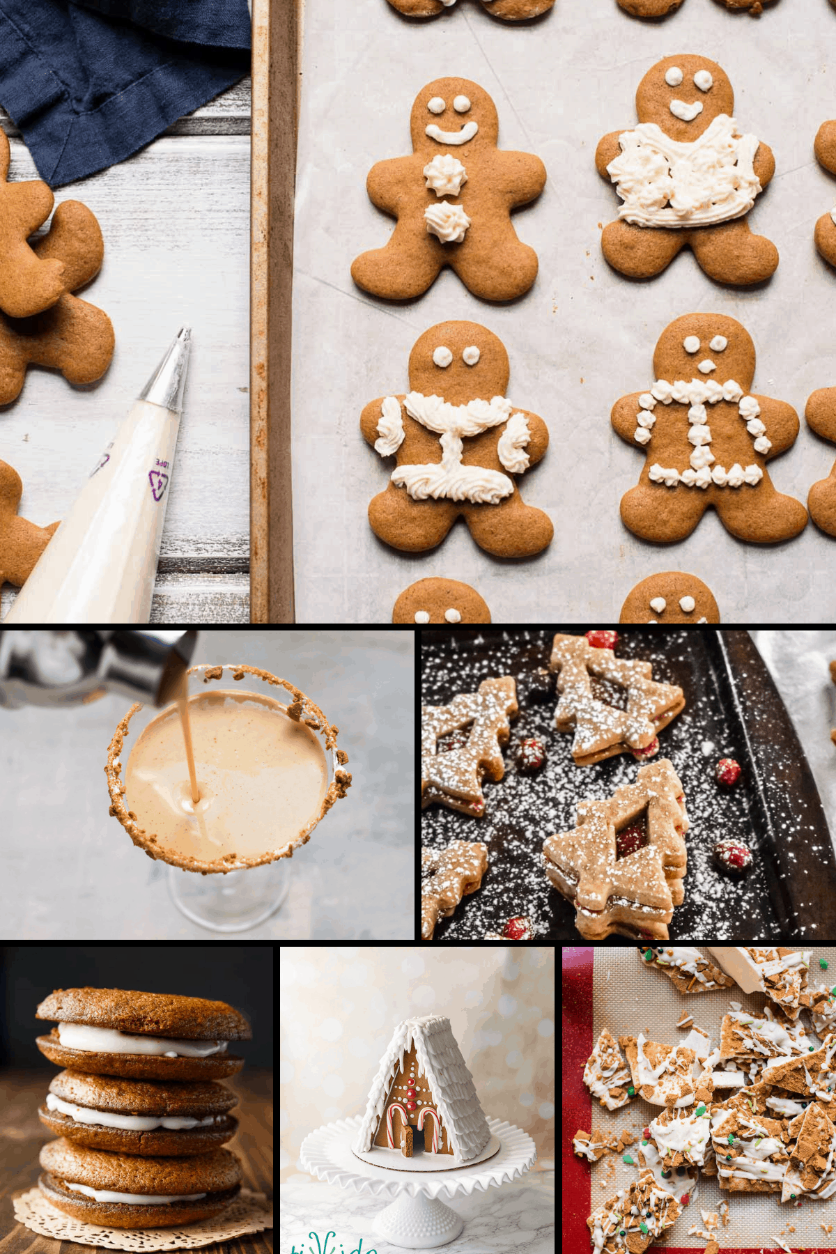 collage of gingerbread recipes