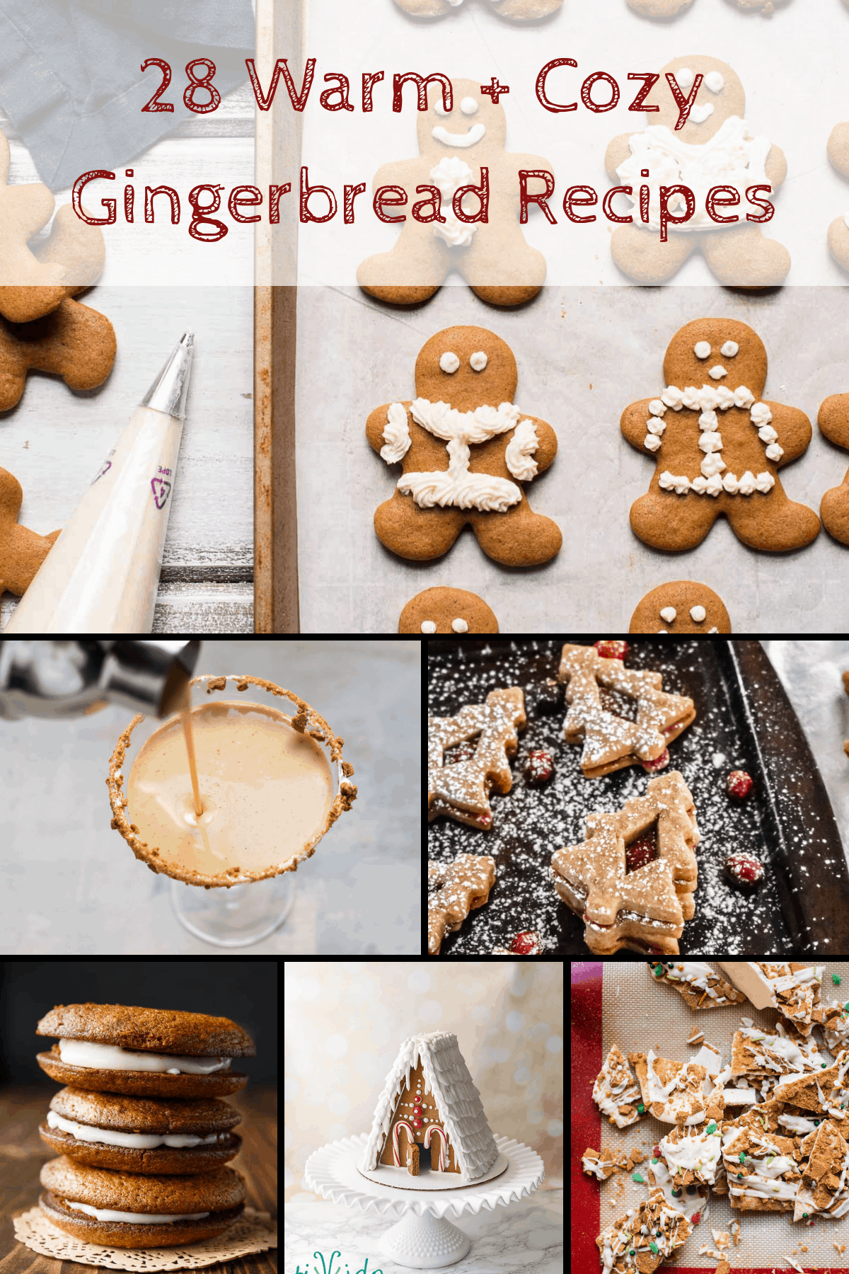 Doughnuts, coffees, cakes and more this gingerbread gingerbread recipe collection has everything you need for the holidays! #gingerbread #holidaytreats