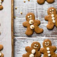 Bourbon Gingerbread Men Cookies