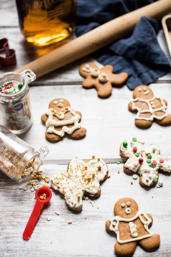 Bourbon Gingerbread Cookies with Bourbon Buttercream
