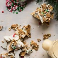 overhead view of gingerbread bark