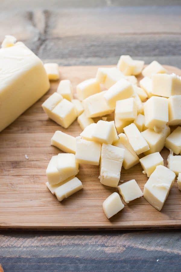 cubed whole milk mozzarella