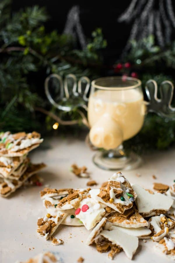 two ingredient gingerbread bark