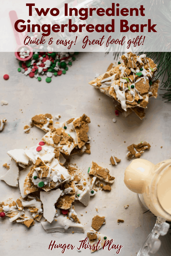 stacked pieces of gingerbread bark