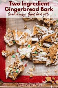 broken pieces of gingerbread bark