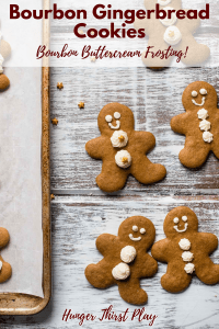 gingerbread cookies decorated with buttercream frosting