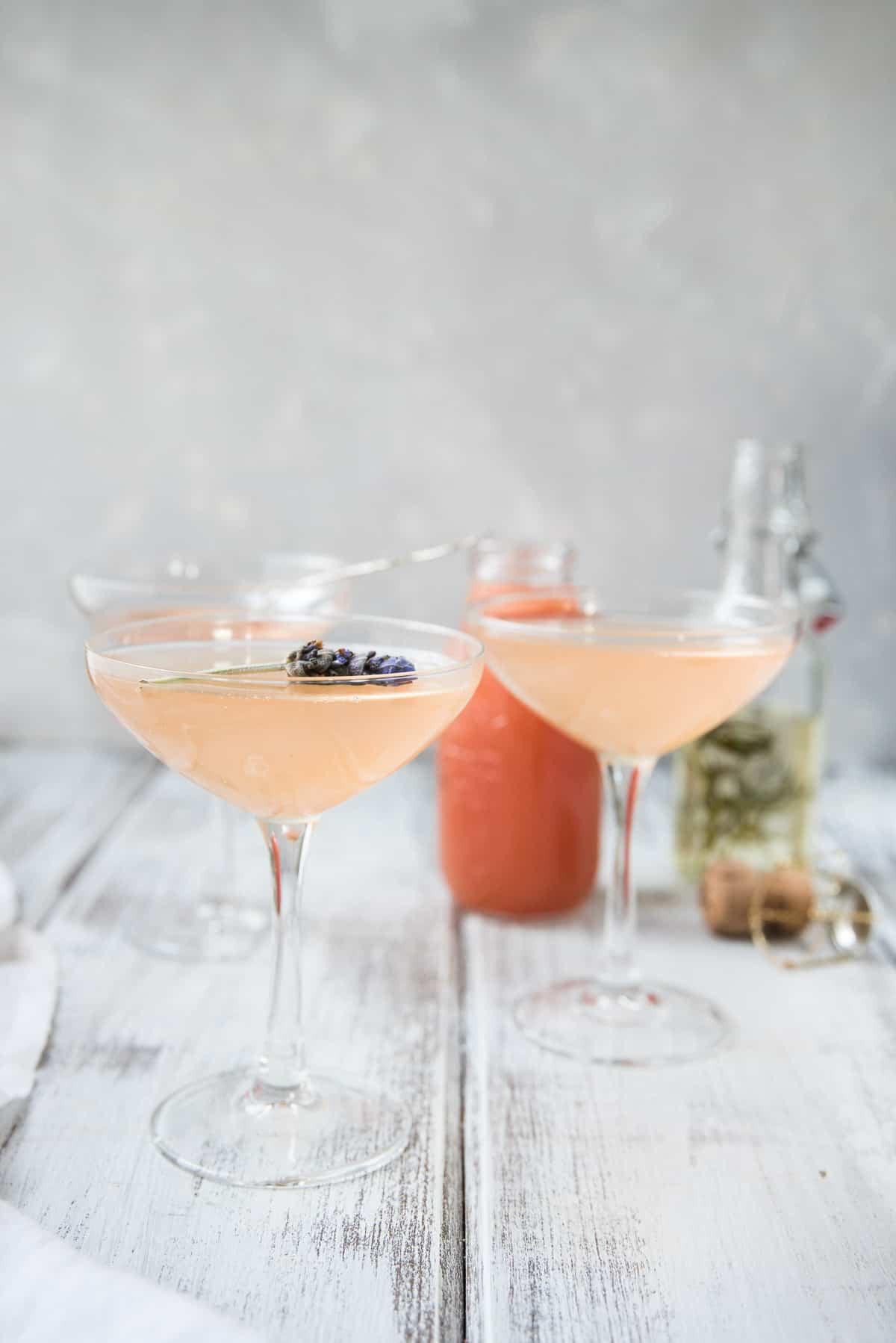 Lavender Grapefruit Mimosa