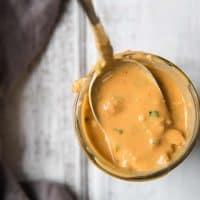 spoonful of low calorie thai peanut dressing