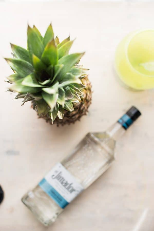 ingredients for pineapple infused tequila