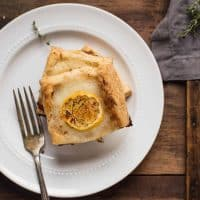 stacked squares of lemon ricotta puff pastry