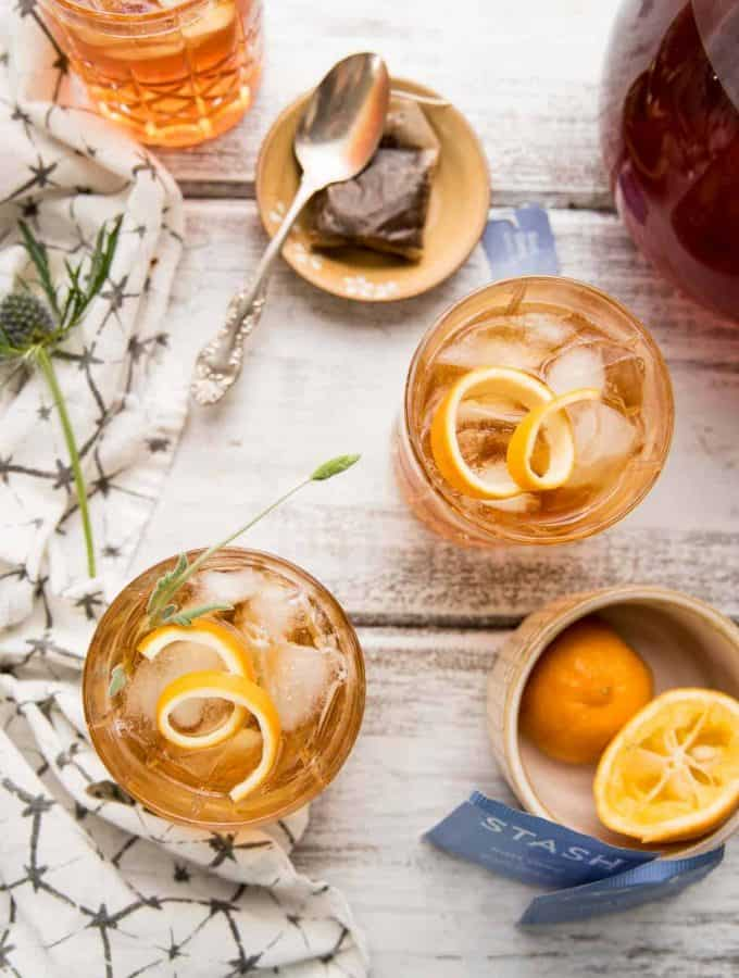 Earl Grey Lavender Bourbon Punch