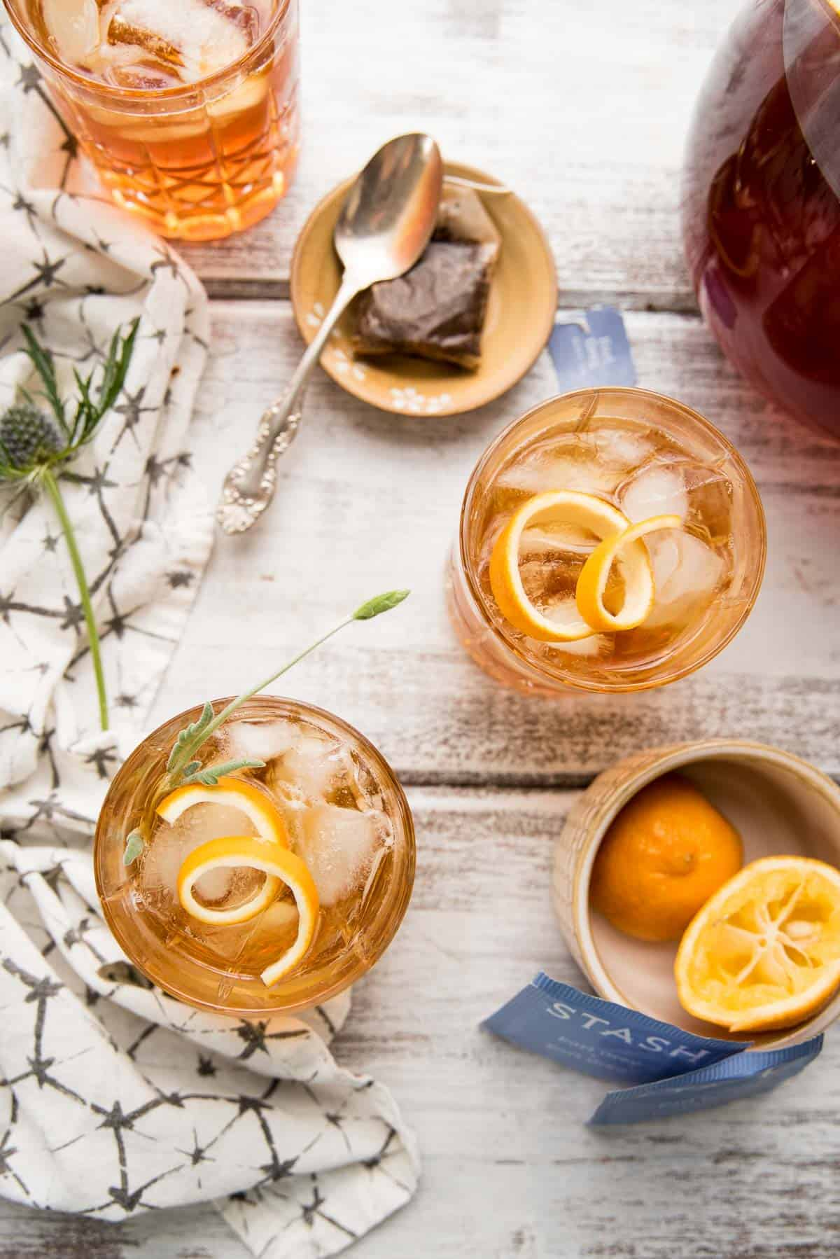earl grey lavender bourbon punch in tum