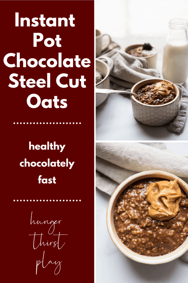 collage of instant pot steel cut oats