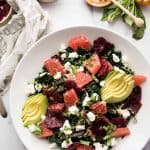 kale citrus salad in a serving bowl