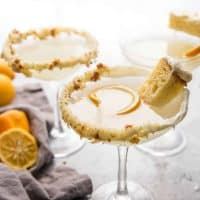 Game of Thrones inspired cocktail of lemon cake martini