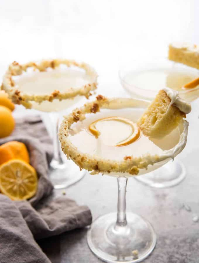 Game of Thrones inspired cocktail of lemon cake martini