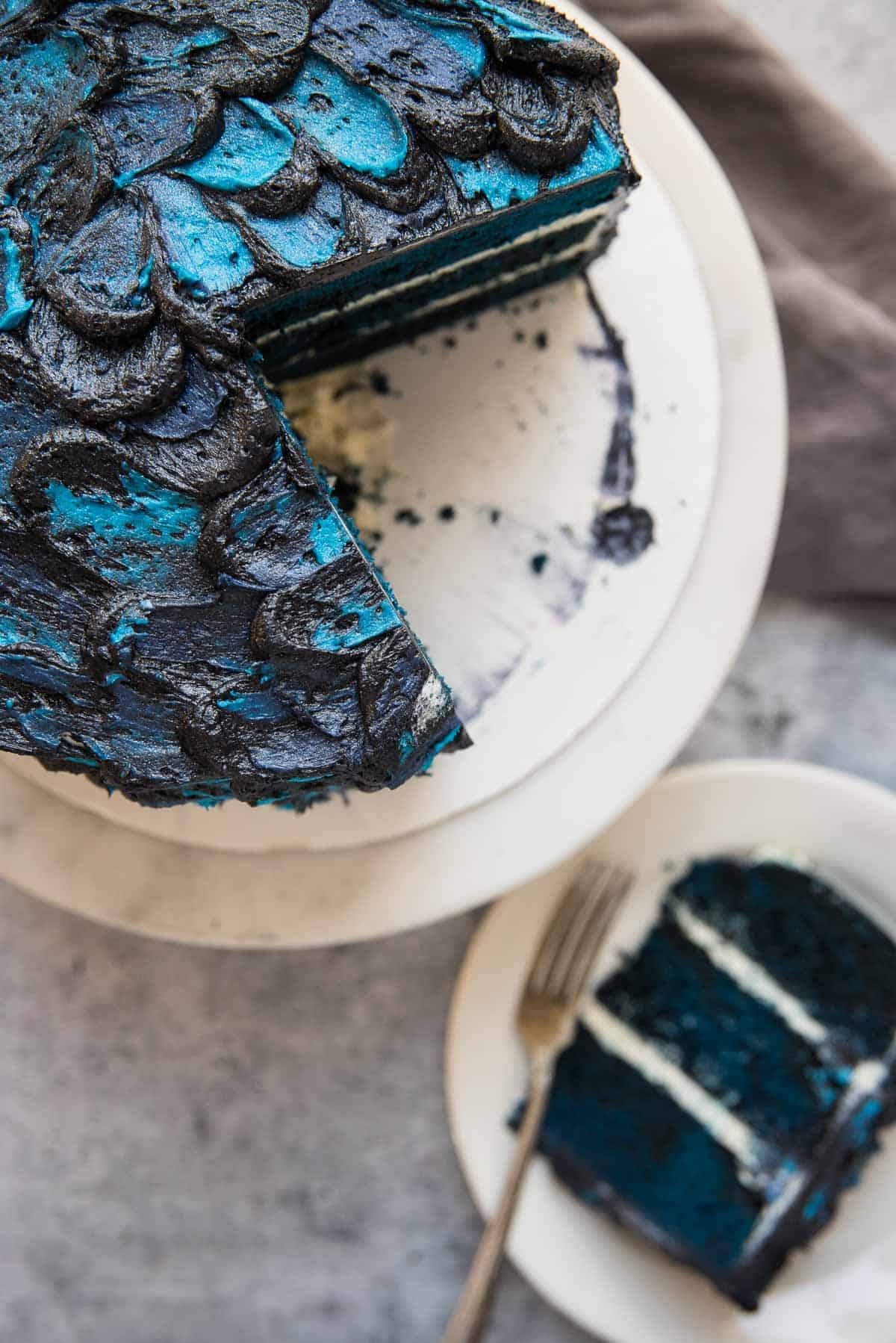 top of white walker dragon cake