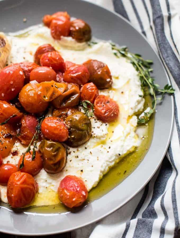 Whipped Feta with Roasted Garlic Tomatoes