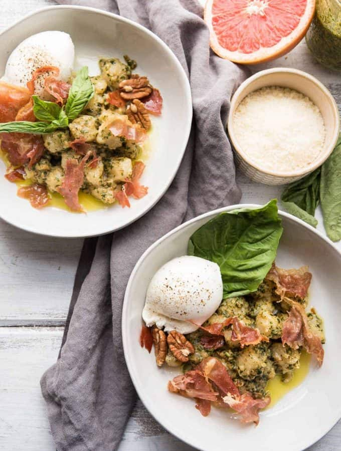 Trader Joe's Cauliflower Gnocchi with Grapefruit Pesto