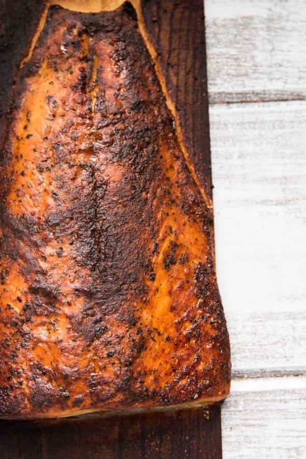 bedar plank salmon cooked