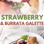 collage of strawberry galette photos