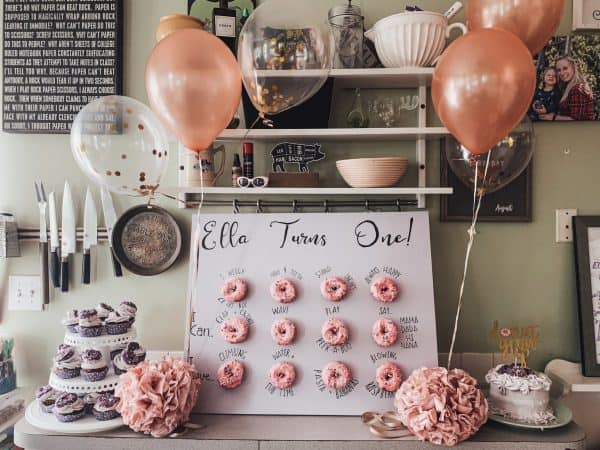 donut board and decorations