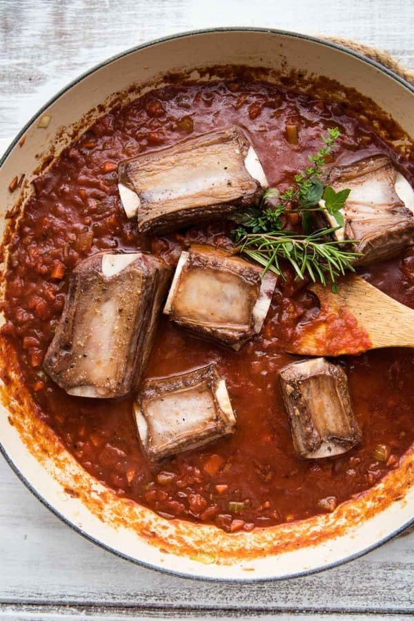 beef short ribs simmered in bold red wine sauce