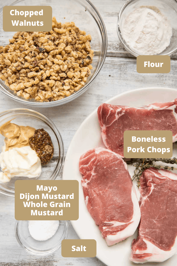 ingredients for dijon pork chops