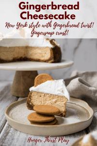 gingerbread cheesecake slice