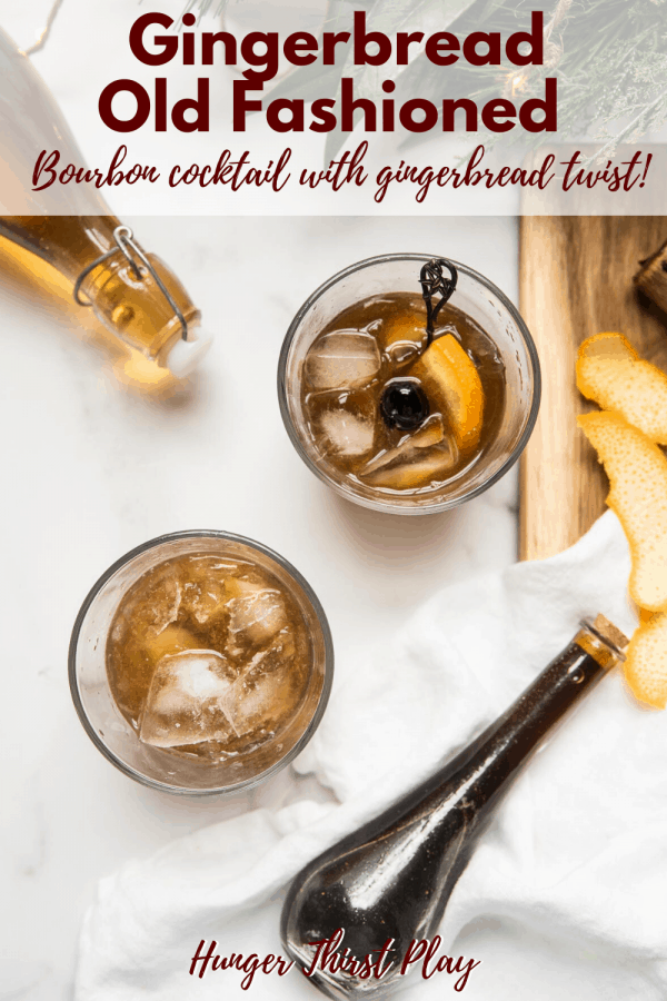 holiday themed old fashioned cocktails