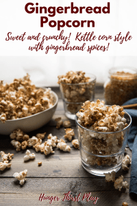 side angle of kettle corn style popcorn in glasses and bowl
