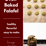 collage of homemade falafel